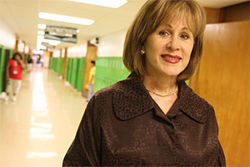 "Bryan Adams High School Principal Cindy Goodsell embraced AIM's electronic monitoring program to address the overwhelming truancy problem at her school because ""any help would be better than what I had."""