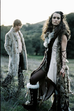 The Lovemakers model a new line of Viking wear between gigs.