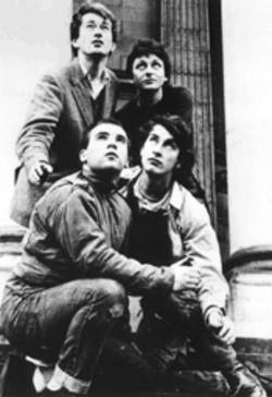 Steal this band: Dave Allen, top right, wants you to filch a copy of Gang of Four's landmark debut, which Warner Bros. doesn't want to sell you.