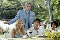 Michael Douglas, Kate Hudson and Matt Dillon--and guess what? The aging Douglas isn't playing Hudson's lover. How odd.