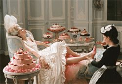 Hey, at least Marie Antoinette (Kirsten Dunst) was willing to share all that yummy cake.