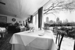 Watel's sun room offers the opportunity to munch on calf's liver while taking in the Dallas skyline.