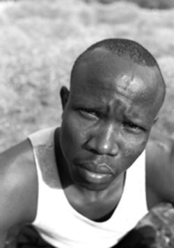 "Gabriel Akol, one of Sudan's ""lost boys,"" whose flight from civil war in Africa is captured in a new comic book"