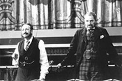 The odd couple: Arthur Sullivan (Allan Corduner, left) and W.S. Gilbert (Jim Broadbent) lend a short, sharp shock to Topsy-Turvy.