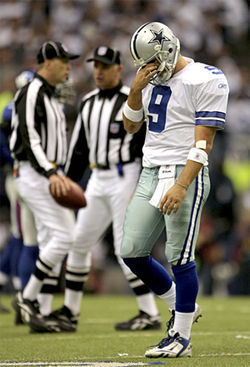 Tony Romo is now defined by two playoff defeats: the Seattle slip and the Jessica jinx.