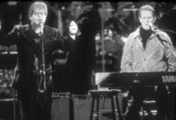 "Elton John and Brian Wilson perform ""Wouldn't It Be Nice""—yeah, it'd be nice if Elton had remembered the danged words."
