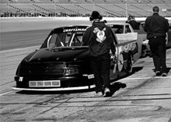 Milburn&#039;s truck gets ready to race at Daytona in 2006.