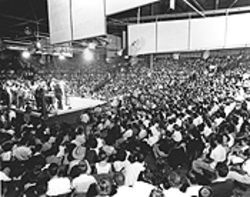 Thousands of locals filled the Sportatorium (below) on Saturday nights for the Jamboree -- and admission was only 60 or 80 cents.