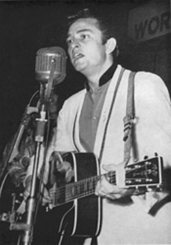 Straight from the country: Johnny Cash was still signed to Sun Records when he played the Jamboree.