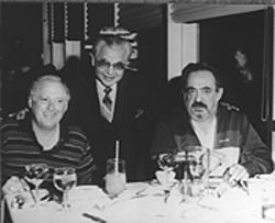 "Steppin' out: Berger, left, with some pals in Atlantic City. ""We never could determine if he really did know mob guys,"" says attorney Charles Blau. ""But he kept some rough company."""