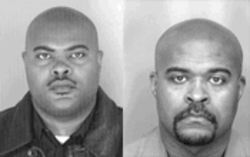 A couple of mugs: William R. Tisdale Jr., left, and his brother Michael K. Tisdale are accused of sifting through the obits and stealing the identities of the recently deceased. Their alleged spree netted cash, cars and some free shopping at Neiman Marcus.