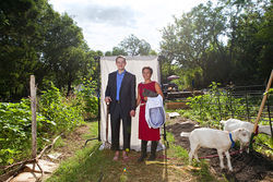 "Last year, Scott and Mariana Griggs bought the land for the ""West Dallas Country Club,"" their nickname for the community garden where Mariana spends most mornings watering and weeding. Scott, a lawyer,  spends his free time advocating for North Oak Cliff development and preservation."