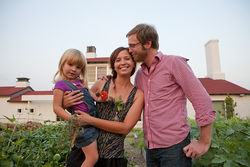 Oak Cliff restaurateurs Chris and Jessica Jeffers—here with their daughter, Alice—have breathed culinary life into the area with Smoke, an upscale barbecue joint, and Bolsa, a locally sourced bistro and market.