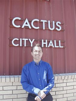 Cactus City Manager Jeff Jenkins faced smaller tax receipts after the raids.