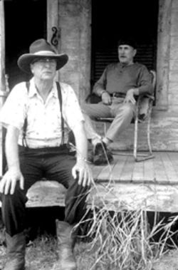 Michael Caine and Robert Duvall play Texas brothers in Secondhand Lions, a movie with more corn than a theater concession stand.