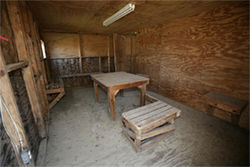 Some of the worst abuses at Guantánamo may have taken place in these hastily built plywood interrogation rooms, next to Camp X-Ray, which housed the prison's first detainees from January to April 2002. That camp and these rooms haven't been used since.