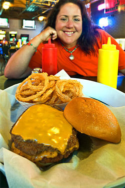 Burger Queen: Pam Wert and Tilley's Grill dish with a smile.