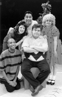 Charlie Brown: a good play and a good musical, with Brian Gonzales, center, in the lead role
