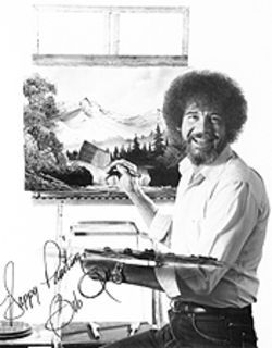 Bob Ross turned the whole world on with his smile.