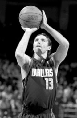 Star pupil: Steve Nash is a great free-throw shooter, thanks in part to Gary Boren, the Mavs' FT specialist.
