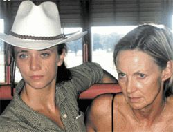 Lara Davison and Sandra Looney battle broncs--and jealous men--in Women and Horses.