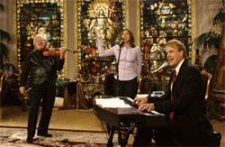 Somehow John Tesh blends soft Christian rock and New Age fodder with aplomb.