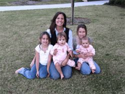 Chrissy Haley and her children: The mother of four  agonized about the possibility of passing on rat-borne  diseases to her youngest, Ella, who was still breast- feeding.