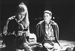 Unconditional love: Chloe Sevigny, left, and Hilary Swank are the doomed couple in Kimberly Peirce's Boys Don't Cry.