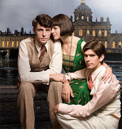 God save the queen: Matthew Goode, Hayley Atwell and Ben Whishaw