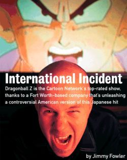 It's Japanimazing! Chris Sabat, one of the main men behind FUNimation's version of Dragonball Z, voices Vegeta, seen on the screen behind him.