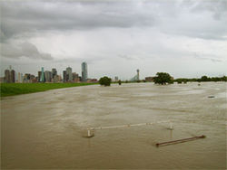 Downtown Dallas is susceptible to floods that could dwarf Katrina in human toll and property destruction.