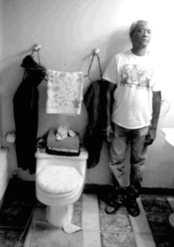 James Jennings&#039; home was flooded by sewage flowing from a toilet.
