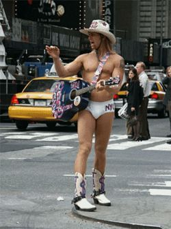 Brian Hederman, be sure to look for the famed Naked Cowboy when you move Dallas' Belafonte to New York City. You two might have a lot in common.