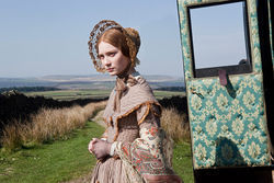 Mia Wasikowska, one in a train of Janes.