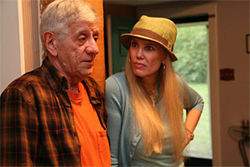 Jerry Russell and Sue Loncar angle for a better relationship as father and daughter in On Golden Pond.
