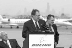 "Boeing chairman Phil Condit tells Dallas, ""Hey, tough nuts."""