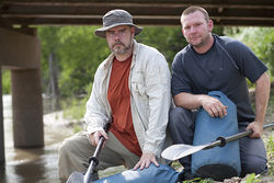 Bret Bolton (left) and Donny Hutchinson were the daring bushwhack paddlers who inspired this story.
