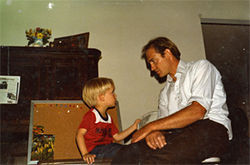 The author Jesse Hyde with his father as a child