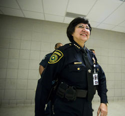 Despite four failed state jail inspections during her administration, Valdez says she has solved overcrowding and understaffing in the jail, along with improving health care and sanitation.