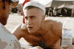 Private Joker: Jake Gyllenhaal is the crack-up who cracks up in Jarhead.