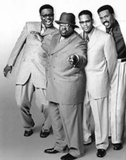 Rulers of the new school, from left: Bernie Mac, Cedric the Entertainer, D.L. Hughley, and Steve Harvey