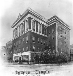 The Knights of Pythias Temple as it looked in 1919