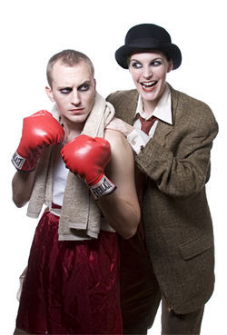 Jeff Swearingen and Kim Lyle are beautiful mimes in The Boxer.
