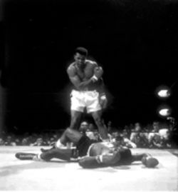 What's that, Sonny?: Ali is the picture of victory in Leifer's view.
