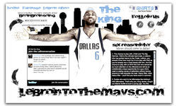 A website encouraged Mavs fans to go to NorthPark Center mall on June 5 as a show of support to convince LeBron James to sign with Dallas. Problem was, no one showed up.