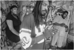 Ghetto bouys:  Ghetto Fame-Us is, from left, Lodidah,  Dread and Ron D.