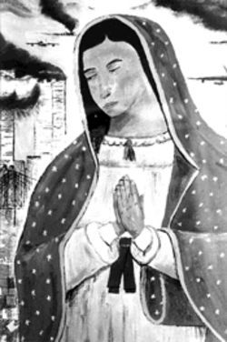 In plane sight:  Jose Francisco Saldaña's Virgen
