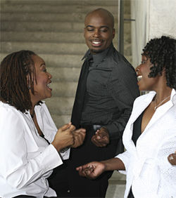 M. Denise Lee, Cedric Neal and Chimberly Carter &quot;blackify&quot; White Music.