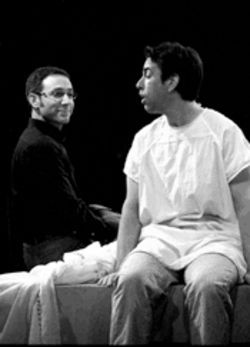 Bedside manner: Boy (Kyle Douglas Miller, left) meets boy (Donald Fowler), boy gets tumor in musical A New Brain.