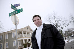 Rick Garza, an architect and neighborhood leader, helped clean out some bad-news apartments on King's Highway by buying and rehabbing them himself.